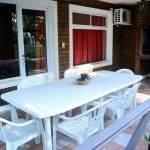 Mesa patio parrilla
